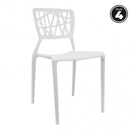 Pack 4 Cadeiras Delta