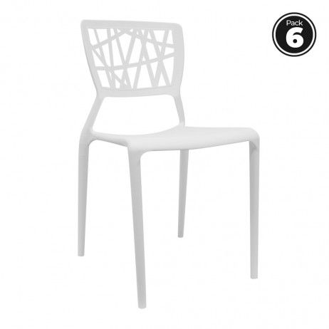 Pack 6 Cadeiras Delta
