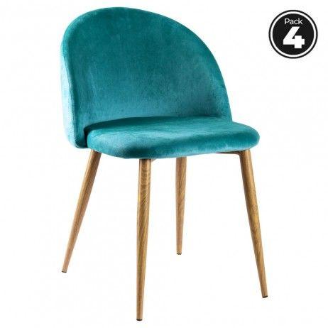 Pack 4 Cadeiras Vint Veludo - 65