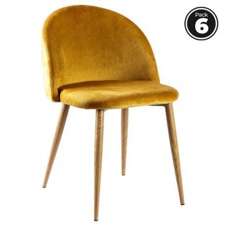 Pack 6 Cadeiras Vint Veludo - 43