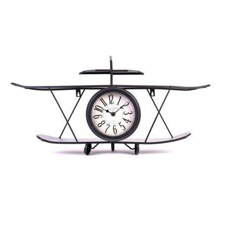 Relógio Avião Air de Metal 64 x 35 cm - Relógios Decorativos