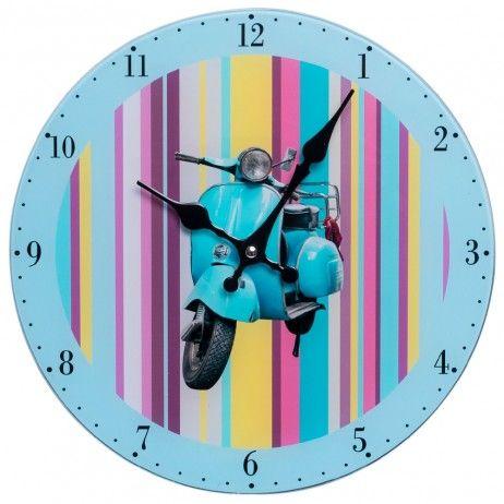 Relógio de Pared Vespa 30 cm - Decoração