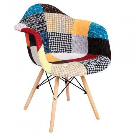 Cadeira Dau Patchwork colores - Cadeiras sala Jantar