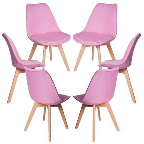 Pack 6 Cadeiras Synk Tecido - Packs Cadeiras Sala Jantar