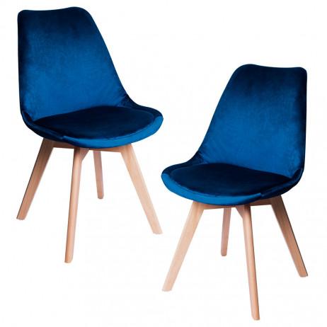 Pack 2 Cadeiras Synk Veludo - Packs Cadeiras Sala Jantar