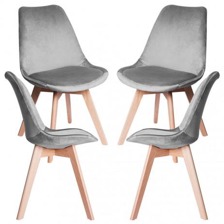 Pack 4 Cadeiras Synk Veludo - Packs Cadeiras Sala Jantar