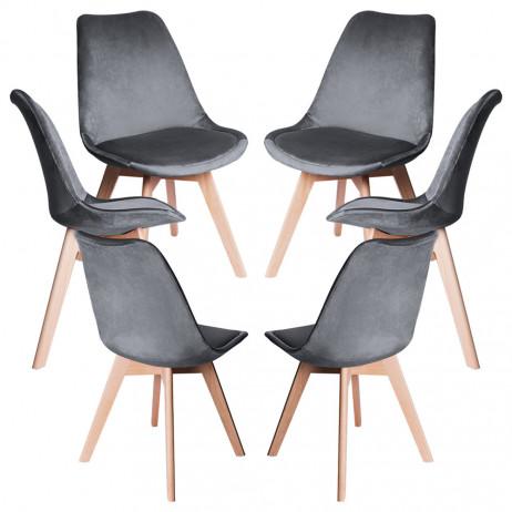 Pack 6 Cadeiras Synk Veludo - Packs Cadeiras Sala Jantar