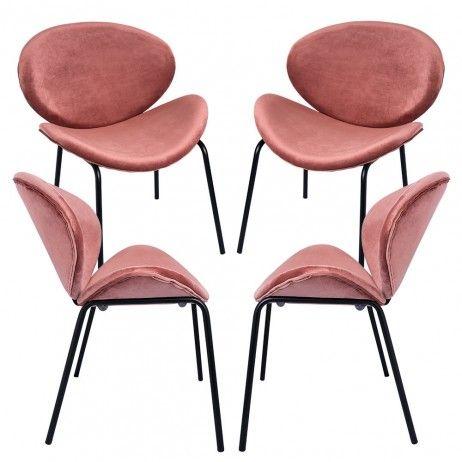 Pack 4 Cadeiras Suki Veludo - Packs Cadeiras Sala Jantar