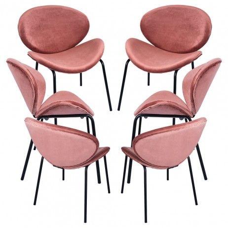Pack 6 Cadeiras Suki Veludo - Packs Cadeiras Sala Jantar