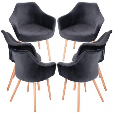 Pack 6 Cadeiras Dau Veludo - Packs Cadeiras Sala Jantar