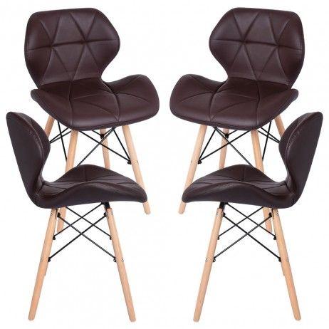 Pack 2 Cadeiras Pentagone - Estilo Nórdico