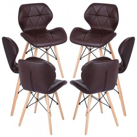 Pack 6 Cadeiras Pentagone - Estilo Nórdico