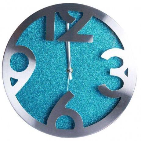 Relógio de Pared Shiny Azul Grande 30 cm - Decoração