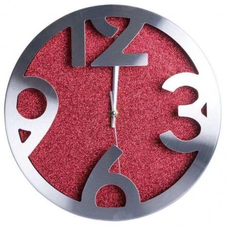 Relógio de Pared Shiny Rojo Grande 30 cm - Decoração