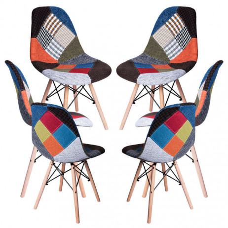 Pack 6 Cadeiras Tower Patchwork - 9