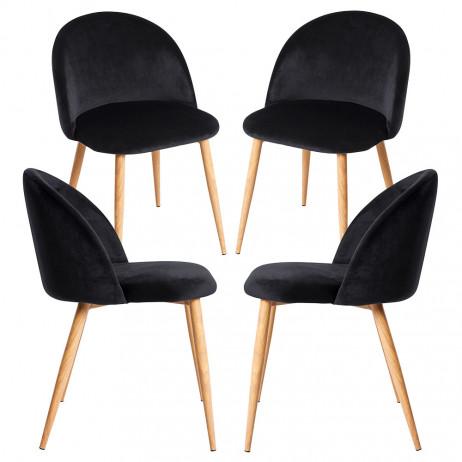Pack 4 Cadeiras Vint Veludo