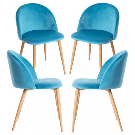 Pack 4 Cadeiras Vint Veludo - 41