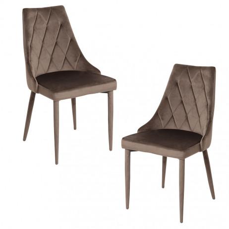 Pack 2 Cadeiras Stoik Veludo