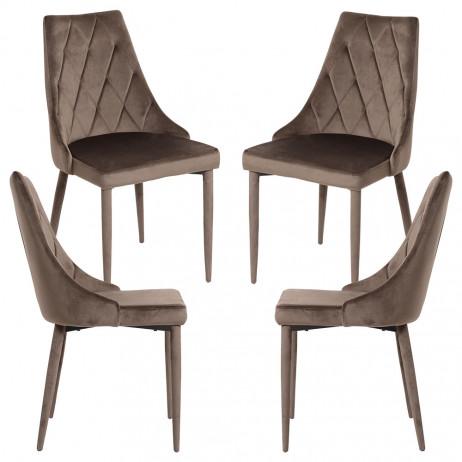 Pack 4 Cadeiras Stoik Veludo