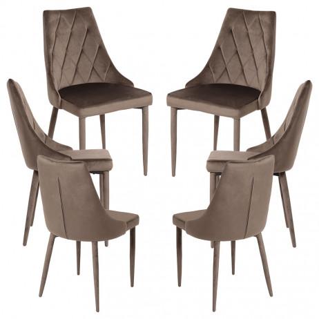 Pack 6 Cadeiras Stoik Veludo