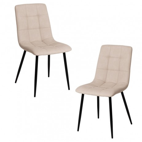 Pack 2 Cadeiras Stuhl Couro Sintético