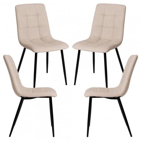 Pack 4 Cadeiras Stuhl Couro Sintético