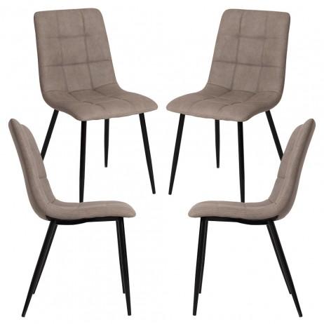Pack 4 Cadeiras Stuhl Couro Sintético - 6