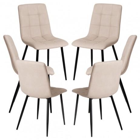 Pack 6 Cadeiras Stuhl Couro Sintético