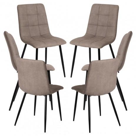 Pack 6 Cadeiras Stuhl Couro Sintético - 6
