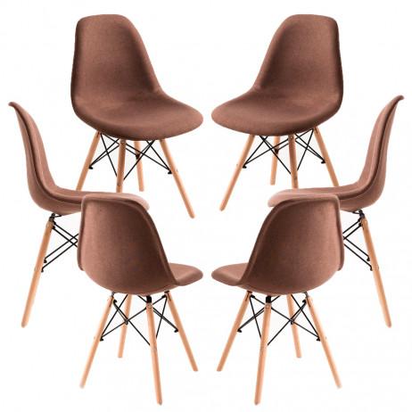 Pack 6 Cadeiras Tower Tecido - 6