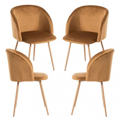 Pack 4 Cadeiras Velt Veludo