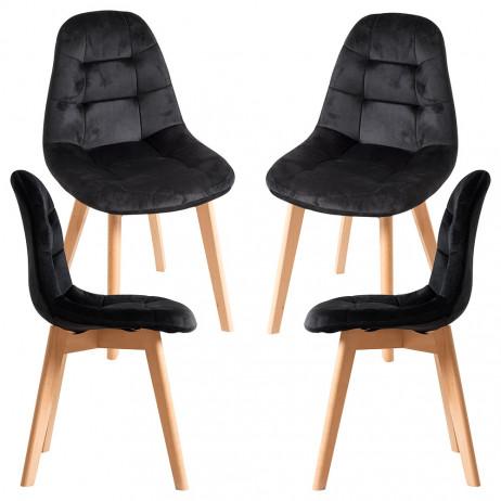 Pack 4 Cadeiras Kelen Veludo