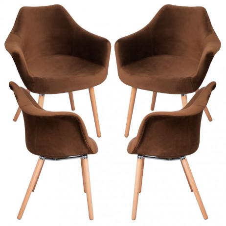 Pack 4 Cadeiras Dau Veludo