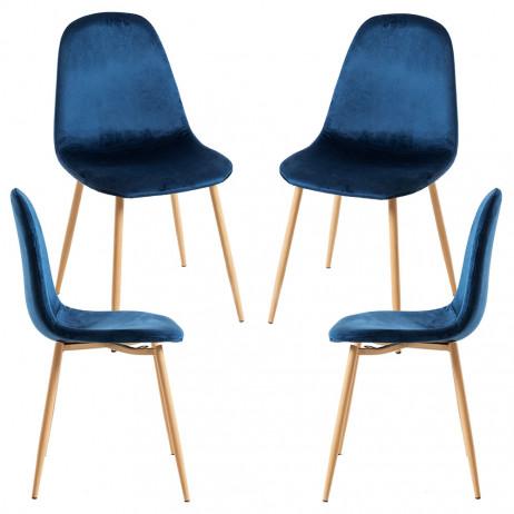 Pack 4 Cadeiras Teok Veludo - 11