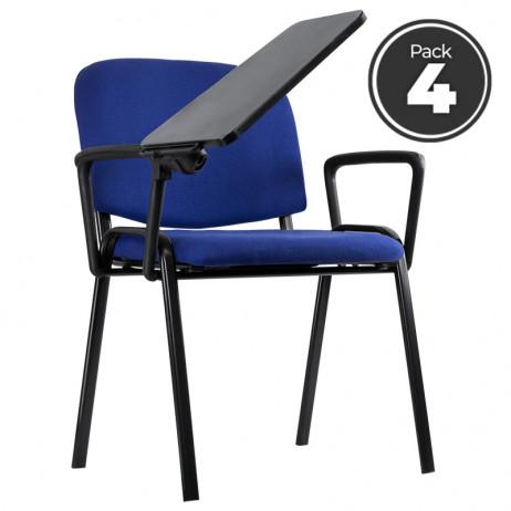 Pack 4 Cadeiras Ofis com Carteira e...