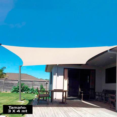 Guarda-sol Vela Retangular 3 x 4 mtrs