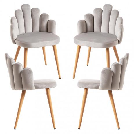 Pack 4 Cadeiras Hand Veludo - 1