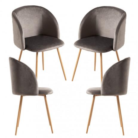 Pack 4 Cadeiras Velt Veludo - 36