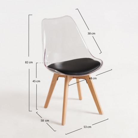 Cadeira Synk Transparente Assento - Cadeiras Sala Jantar