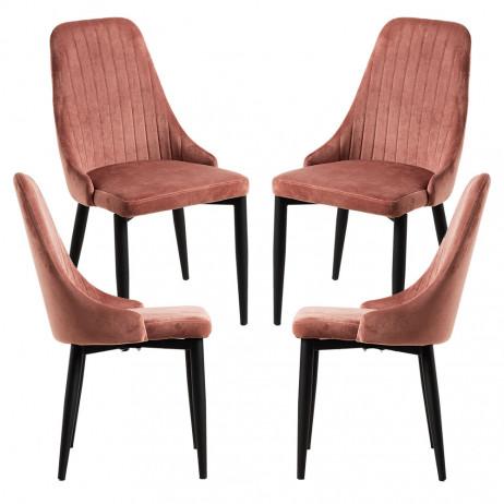 Pack 4 Cadeiras Kan Veludo - 1