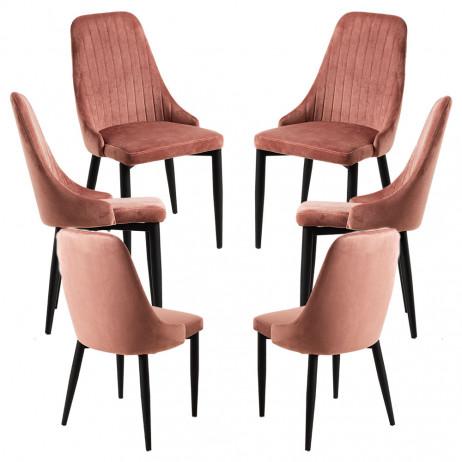 Pack 6 Cadeiras Kan Veludo - 1