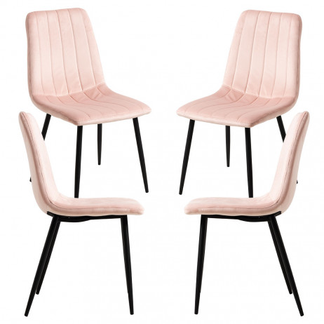 Pack 4 Cadeiras Veludo Liny - 1