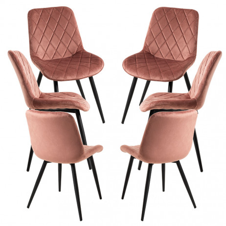 Pack 6 Cadeiras Min Veludo - 1