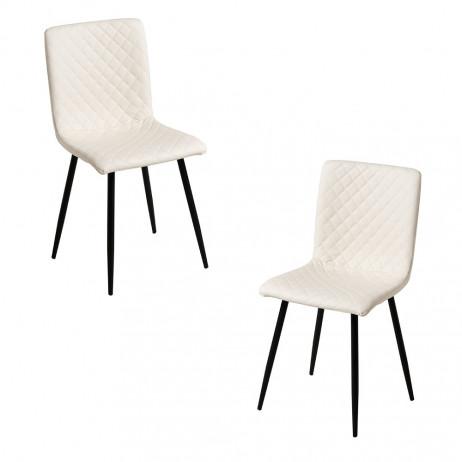 Pack 2 Cadeiras Rom Couro Sintético - 1