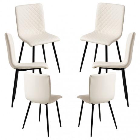 Pack 6 Cadeiras Rom Couro Sintético - 1
