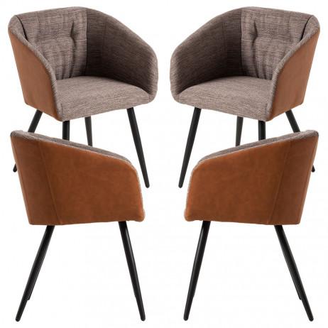 Pack 4 Cadeiras Dalu Marrom