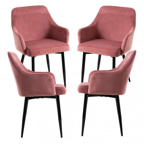 Pack 4 Cadeiras Puan Veludo