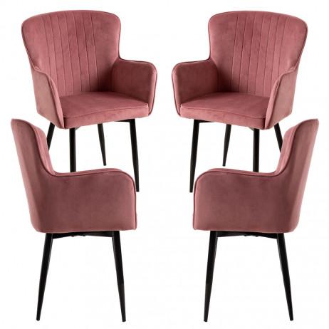 Pack 4 Cadeiras Dalye Veludo