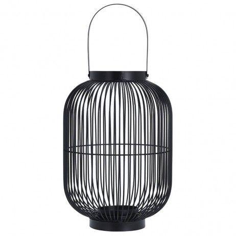 Lanterna Porta-Vela Jauli de Metal 24 x 34 cm