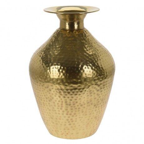 Vaso Ouro Yun de Alumínio 26 x 49 cm - Figuras decorativas